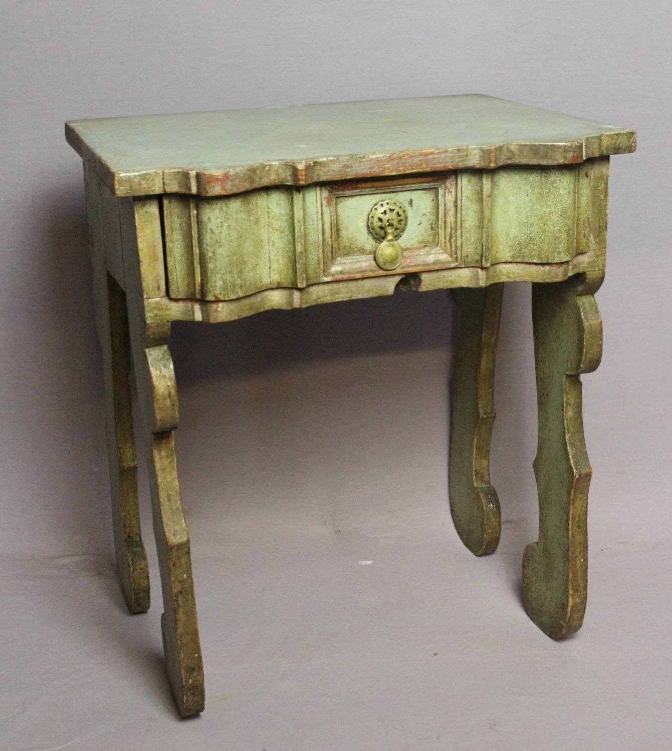 Spanish Painted Bedside / Occasional Table