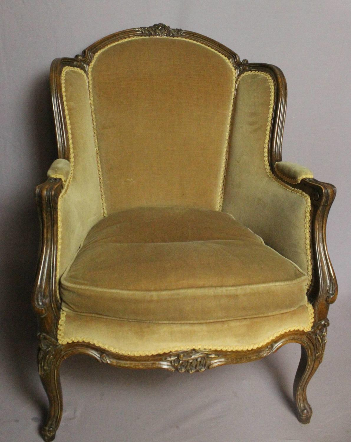 French Louis XVI Style Fauteuil / Armchair