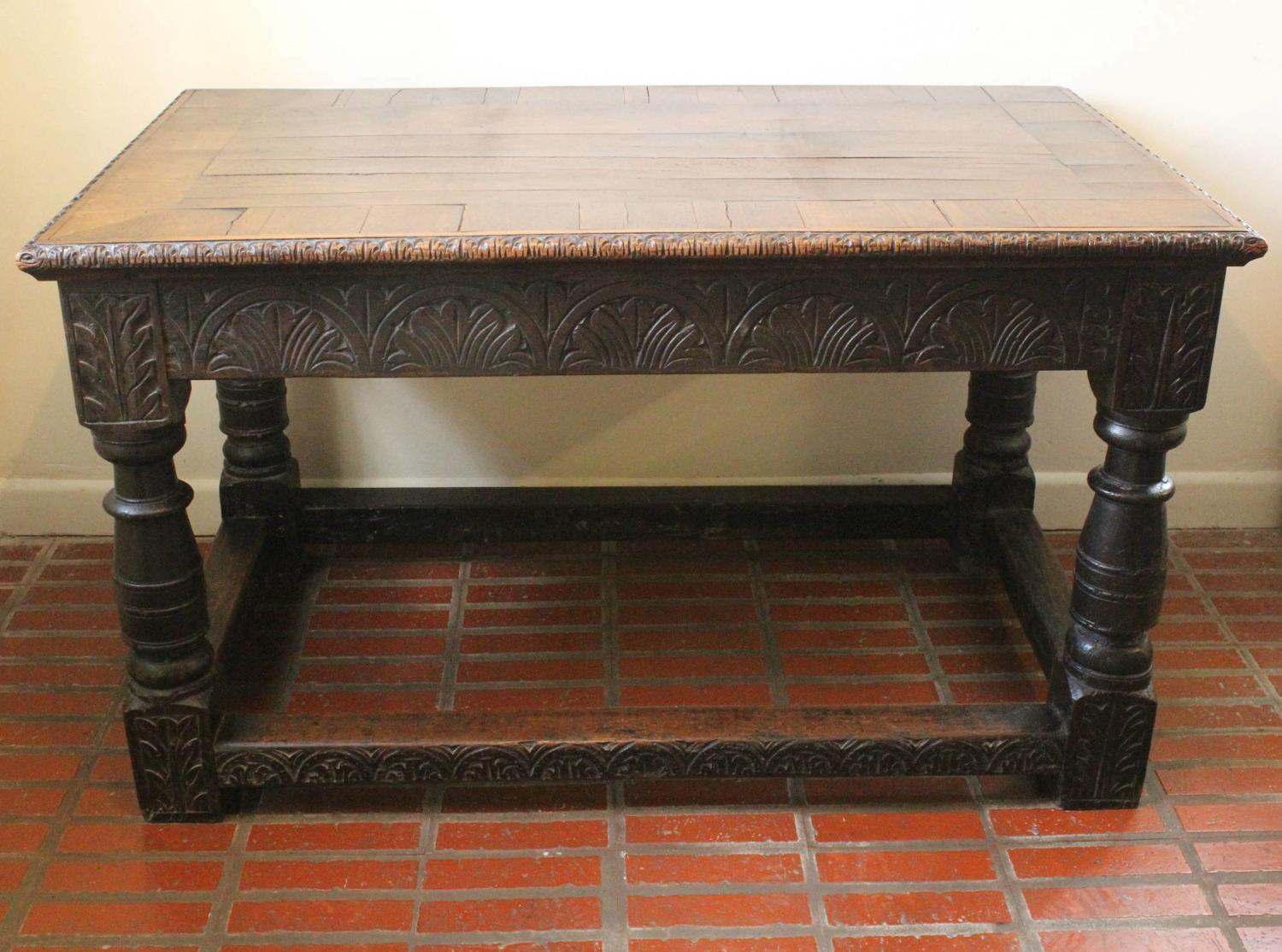 17th - 19th Century Oak Refectory Table