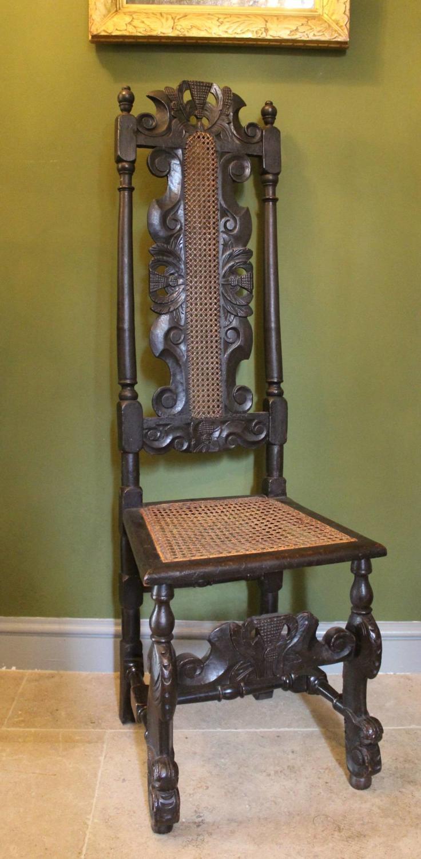 Scottish 17th Century Cane Highback Chair