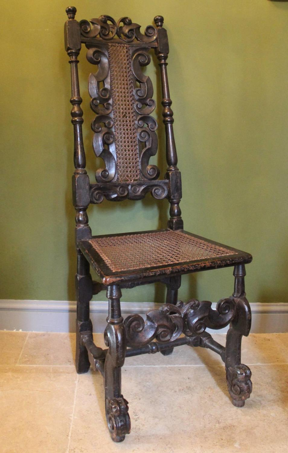 17th Century Cane Highback Chair