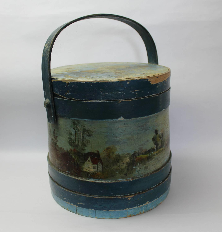 Folk Art Shaker Style Painted Workbox