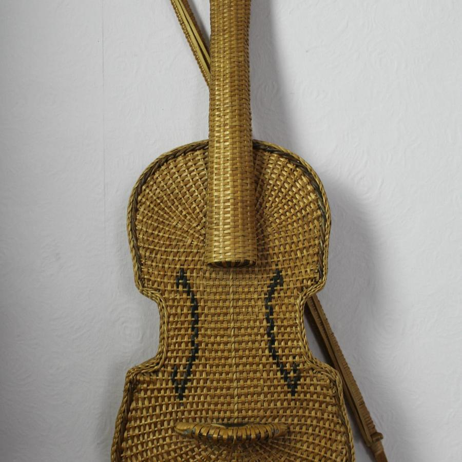 Unusual Wicker Violin & Bow