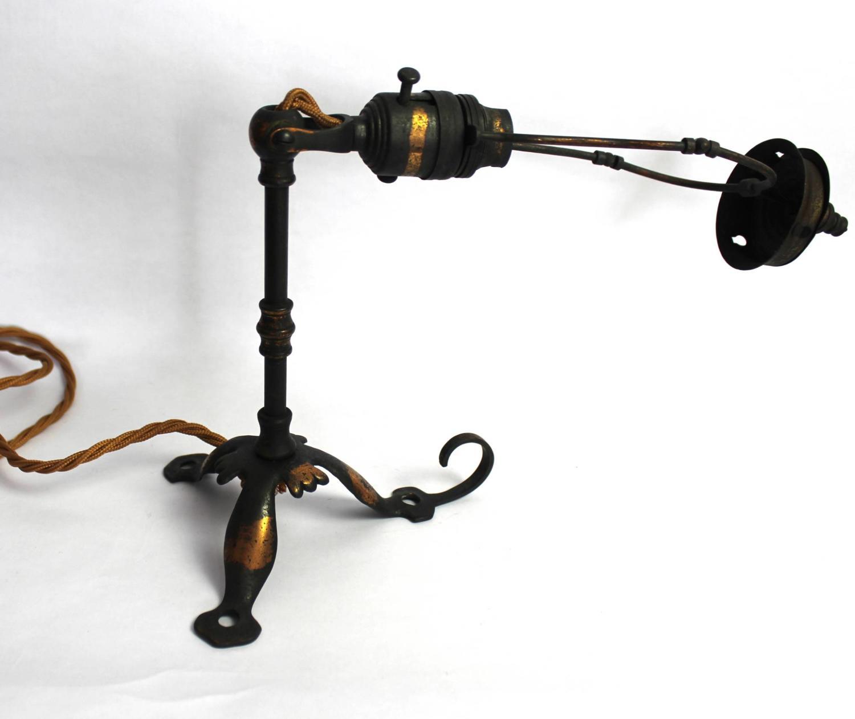 Arts & Crafts Anodised Pullman Lamp