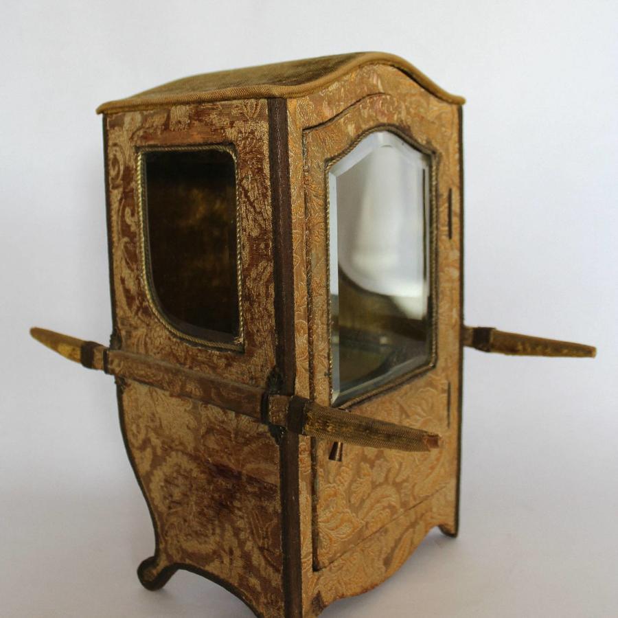 Miniature Sedan Chair Display Case
