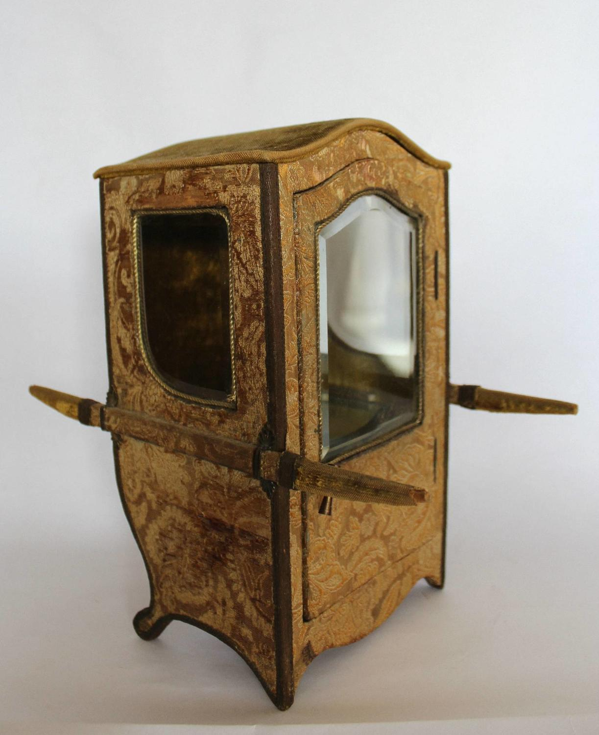 Miniature Sedan Chair Display Case