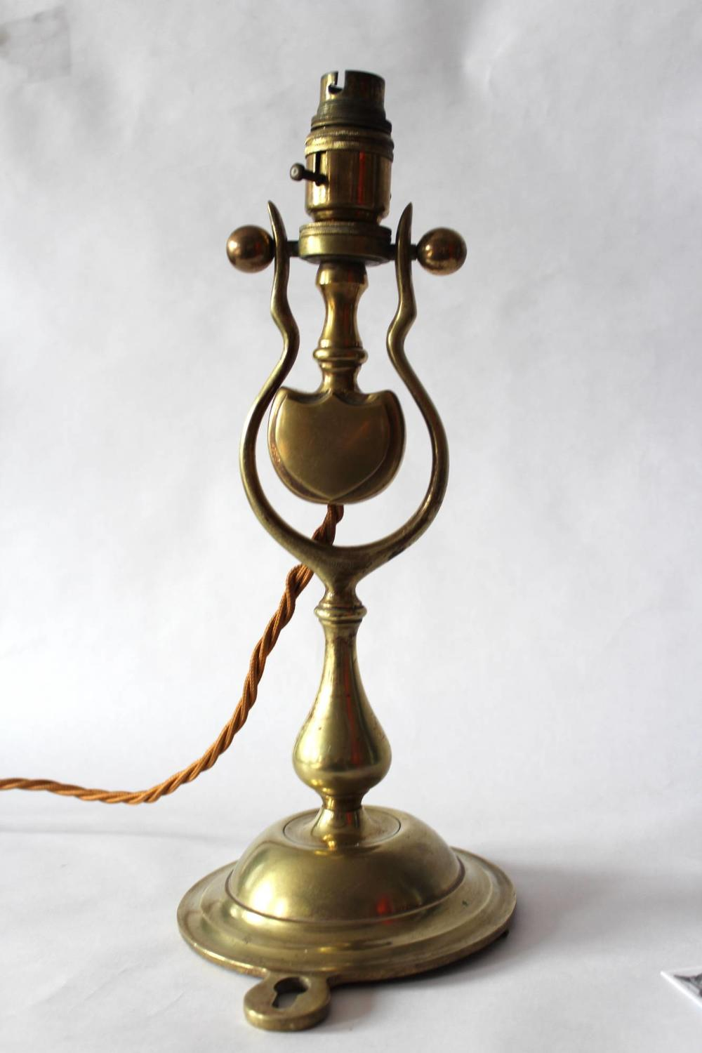 Brass Ship's Gimbal Lamp