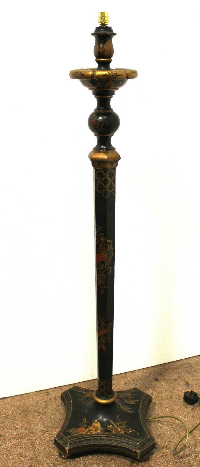Chinoiserie Decorated Standard Lamp