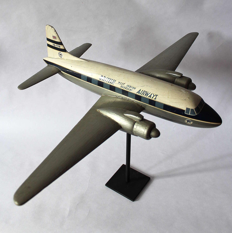 1955 Wooden Model of Viking Aeroplane