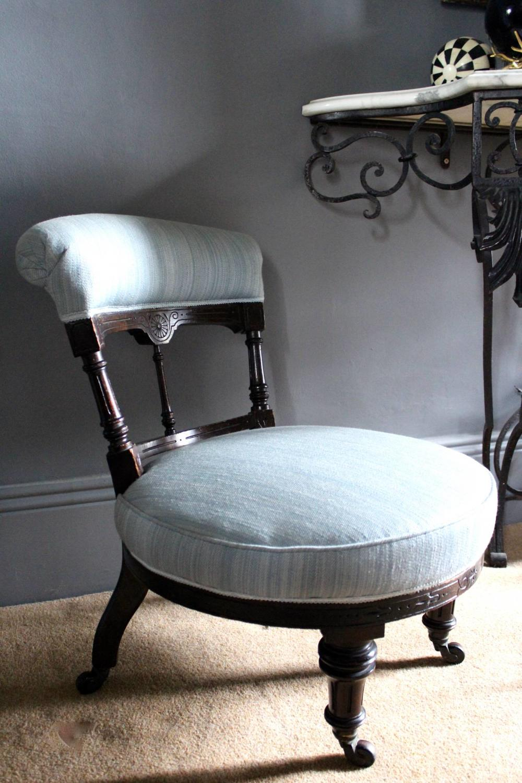 Antique Victorian Nursing / Bedroom Chair