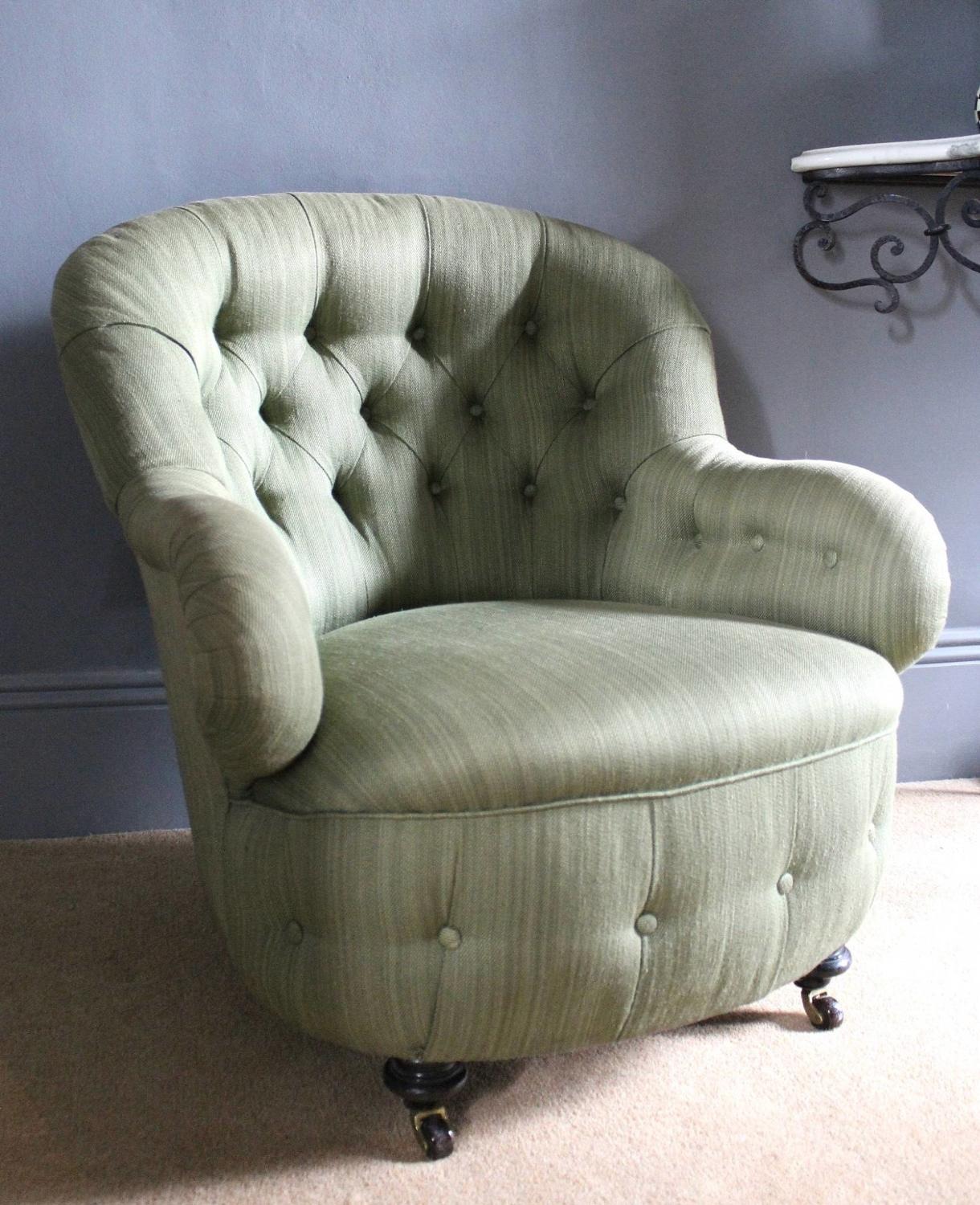 Antique Button Back Armchair