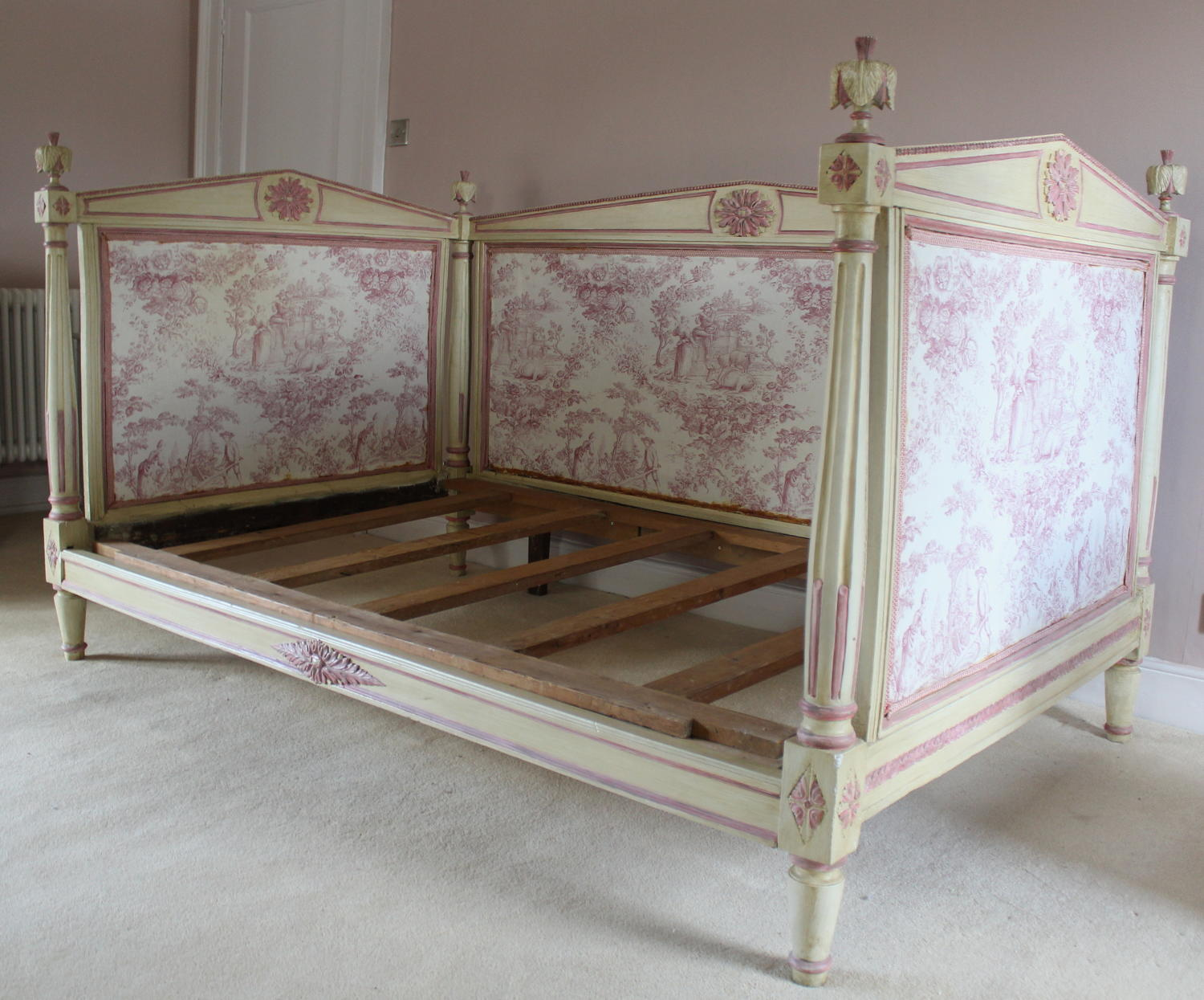 French Directoire Toile de Jouy Daybed