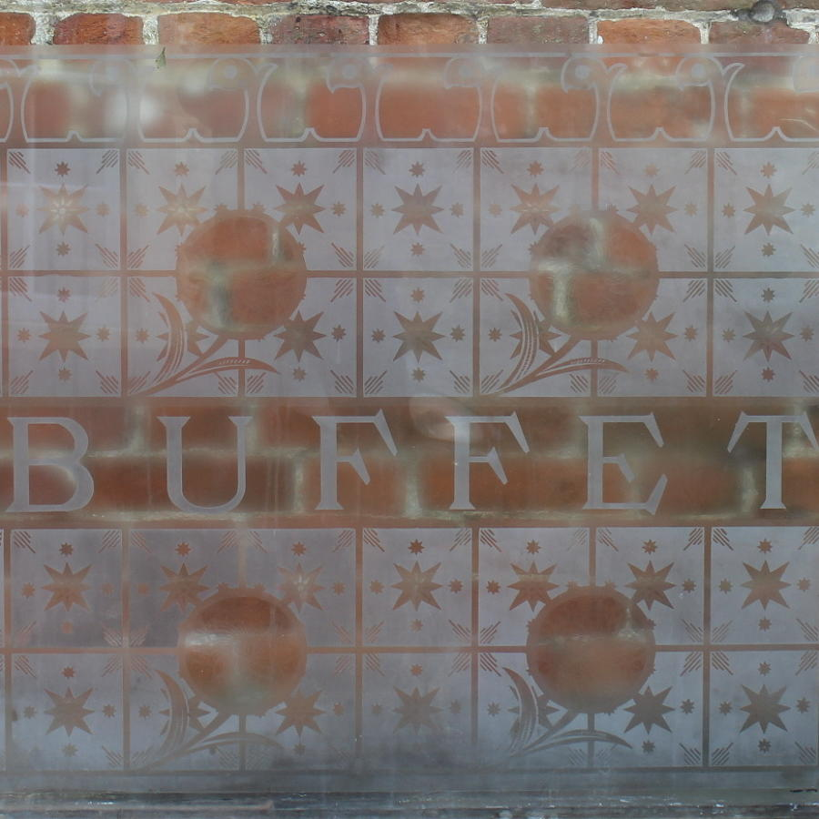 Acid Etched Glass BUFFET Window