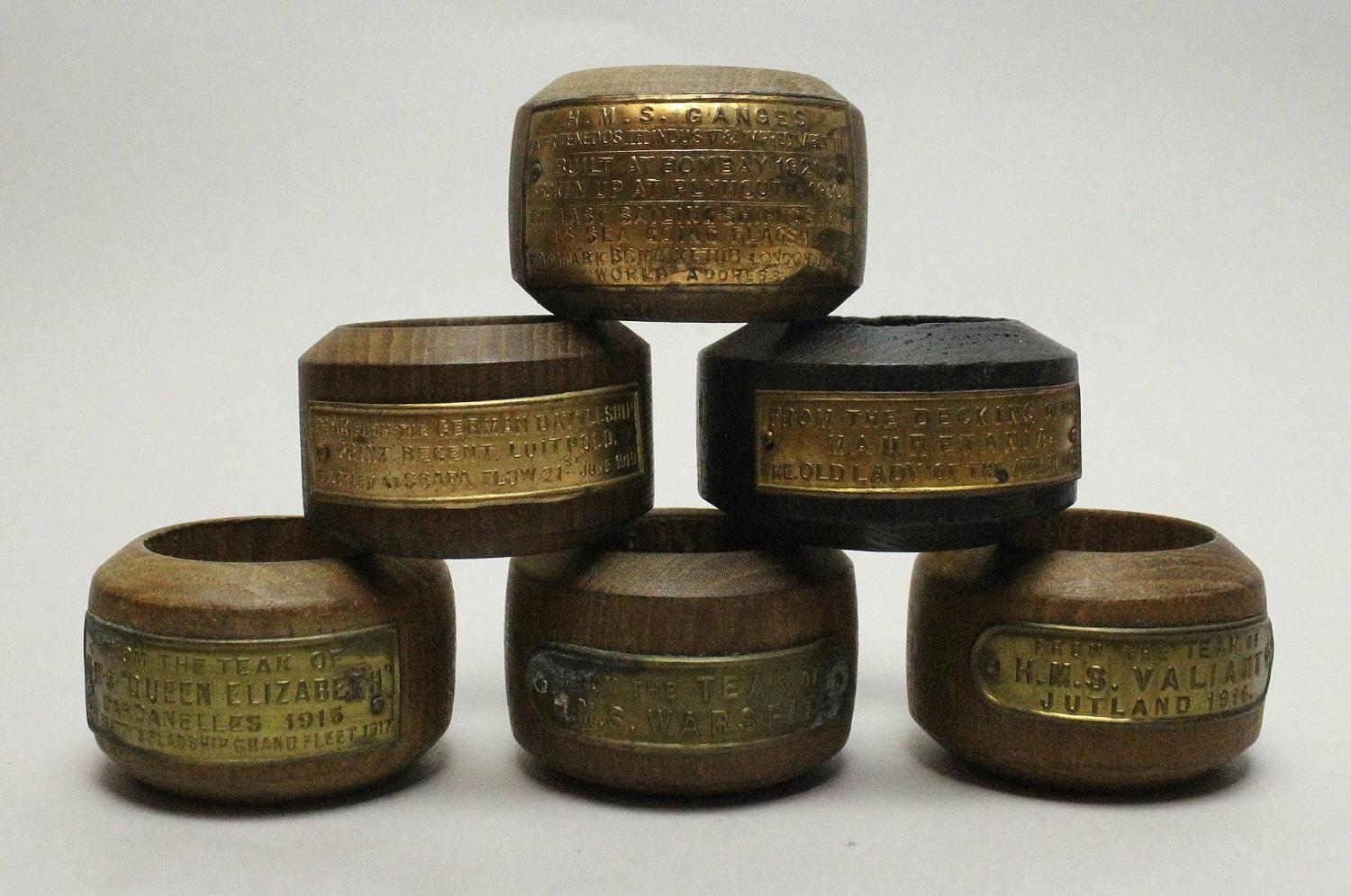 Commemorative Napkin Rings of Naval Interest