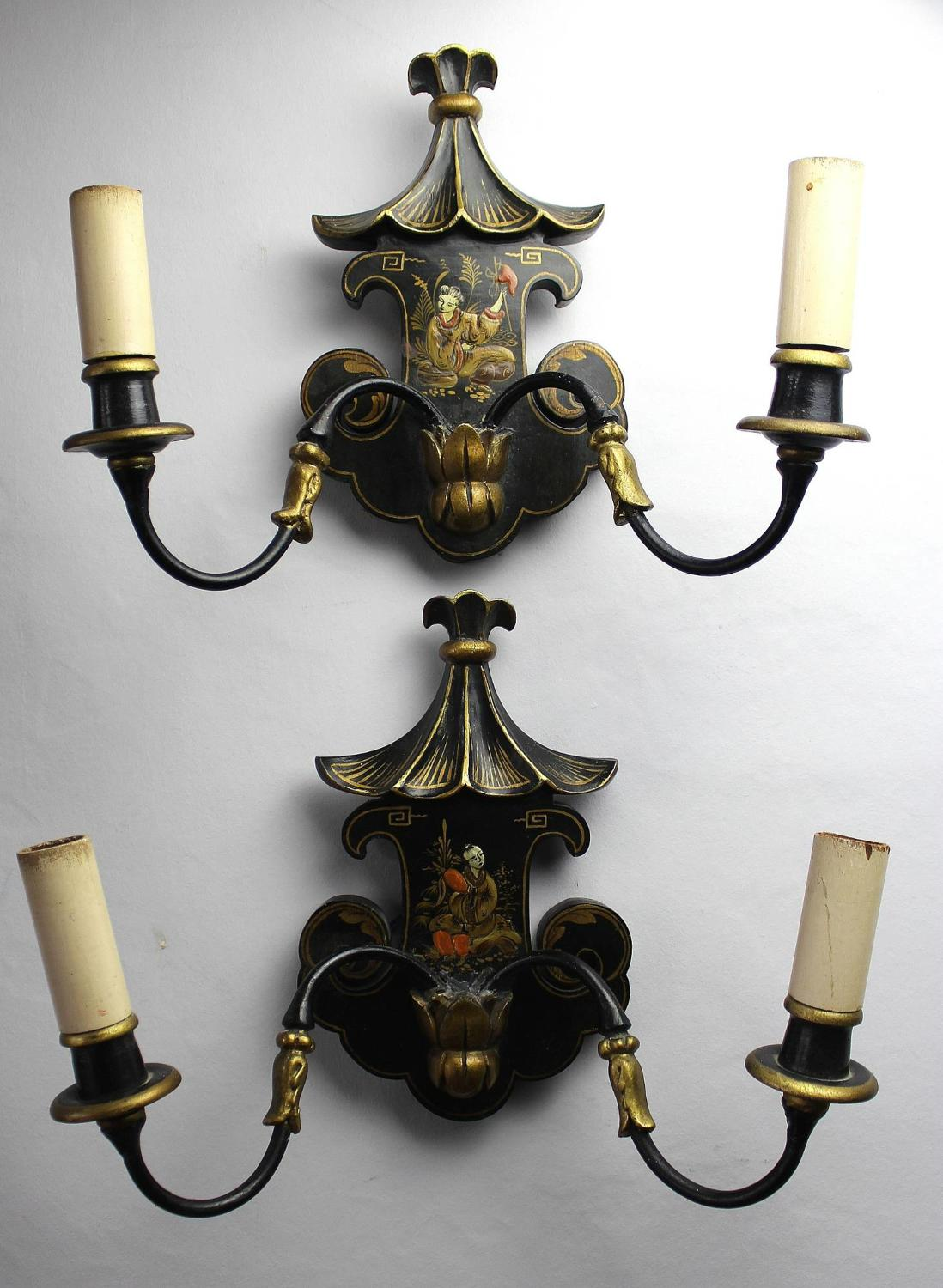 Pair of Chinoiserie Wall Lights