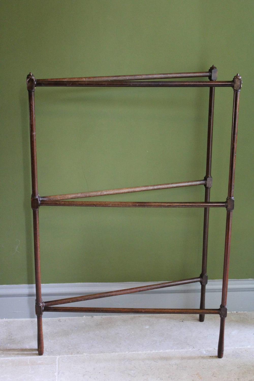 19th C Gillows Style Folding Mahogany Towel Rail