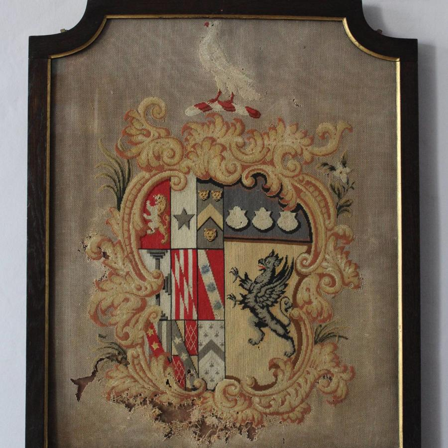 19th Century Armorial Needlework
