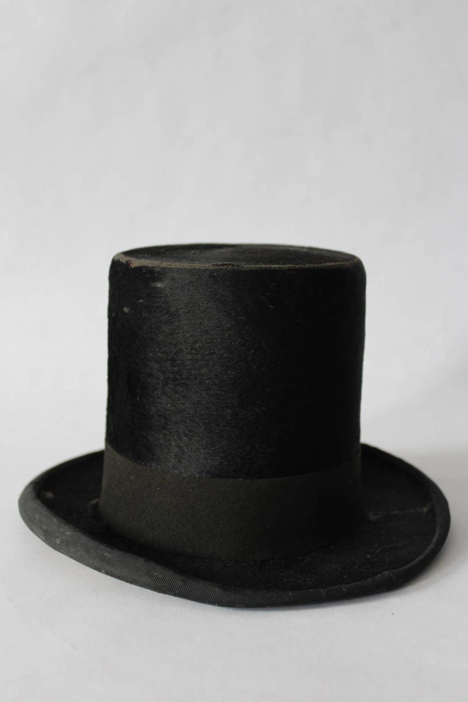 Antique Miniature Moleskin Top Hat
