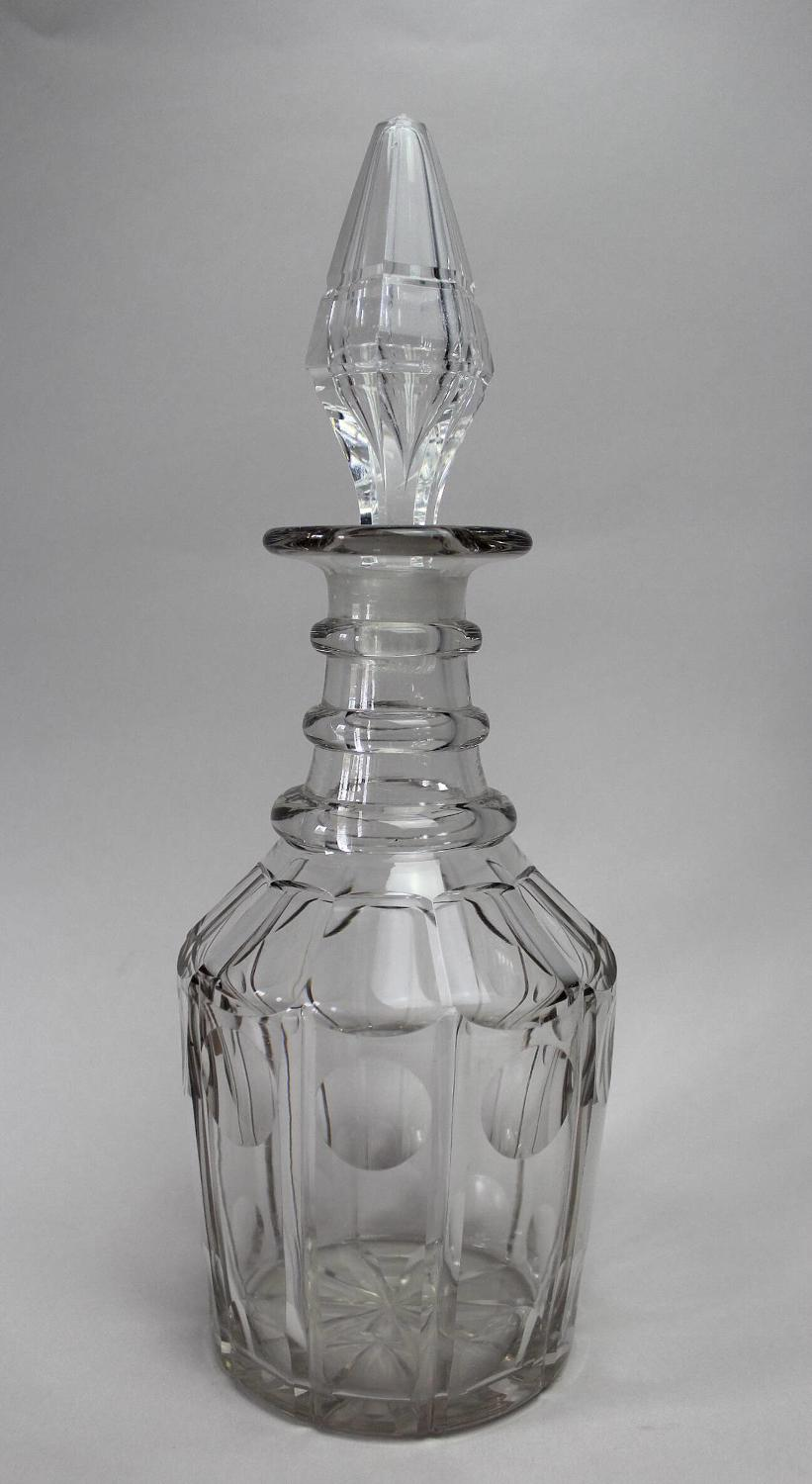 Early Victorian Cut Glass Decanter & Stopper