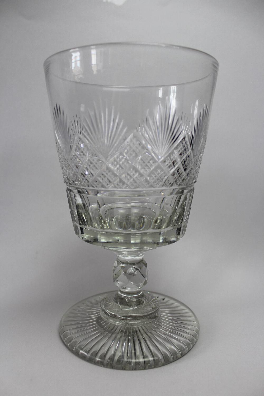 Very Large Regency Revival Cut Glass Bucket Rummer