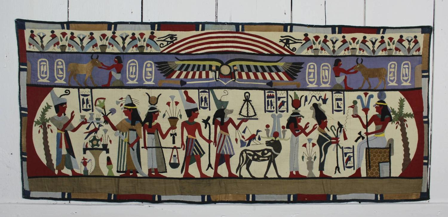 Egyptian Applique Textile Wall Hanging