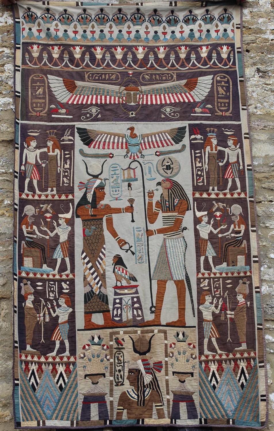 Superb Egyptian Applique Wall Hanging
