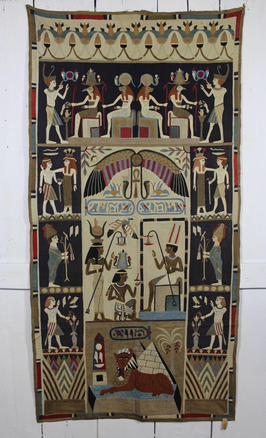 Large Egyptian Applique Textile Wall Hanging