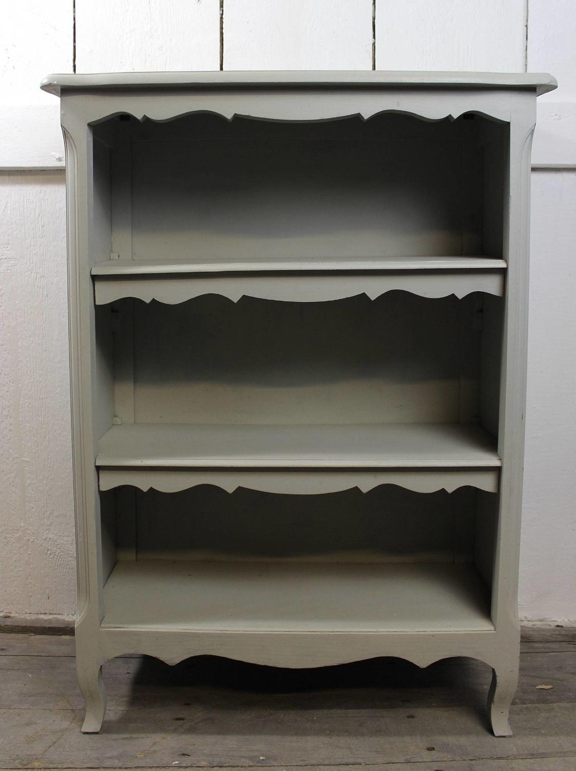 French Louis XV Style Painted Open Bookcase