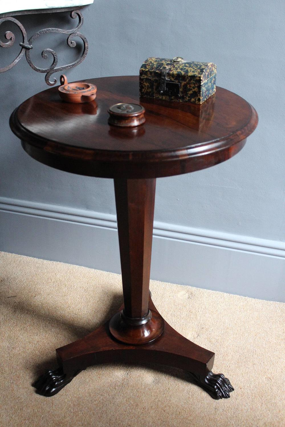 William IV Rosewood Tripod Side Table