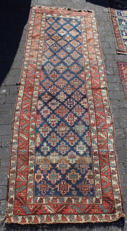An Antique Caucasian Karabagh Long Rug \ Runner