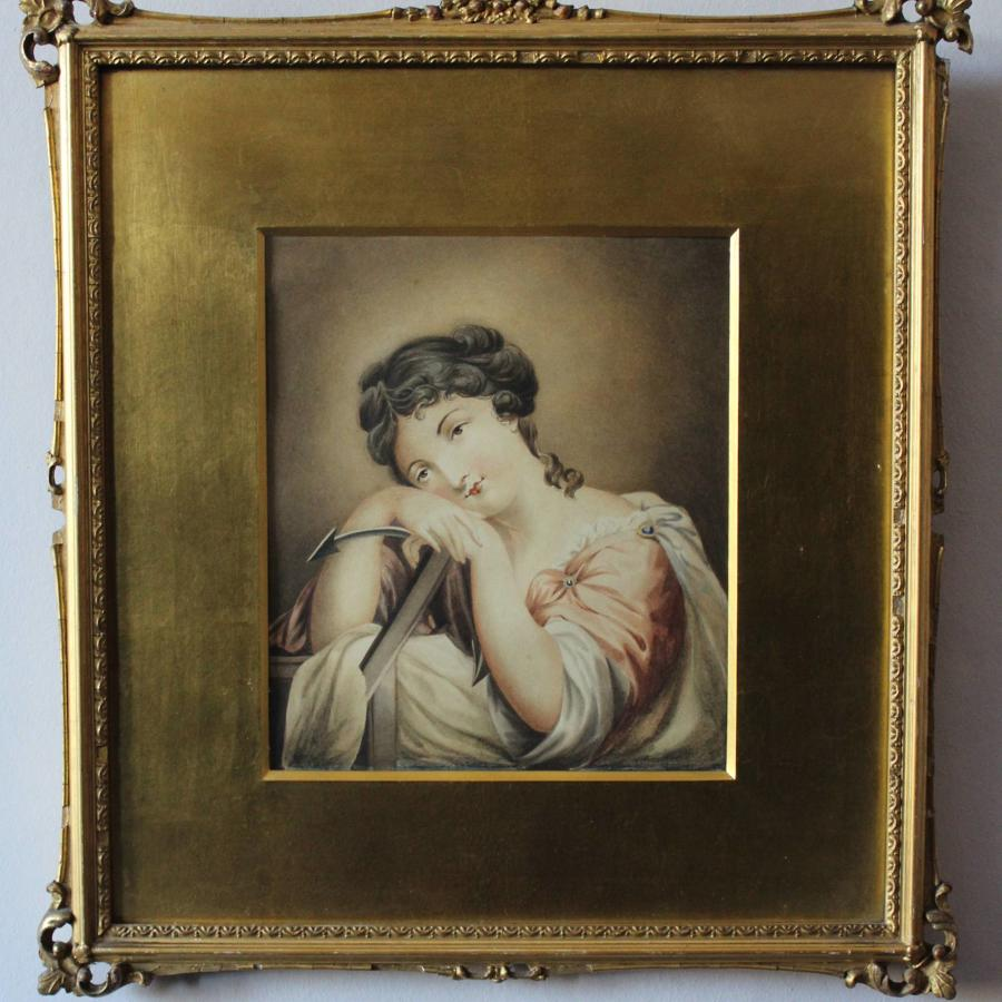 Regency Watercolour Portrait of Hope
