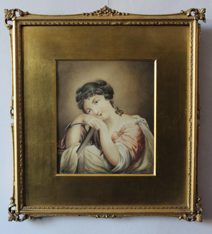 Regency Watercolour Portrait of Hope