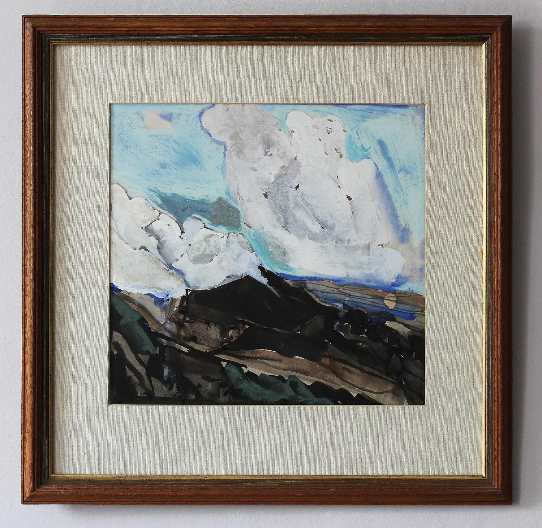 Keith Grant Gouache of Mount Etna