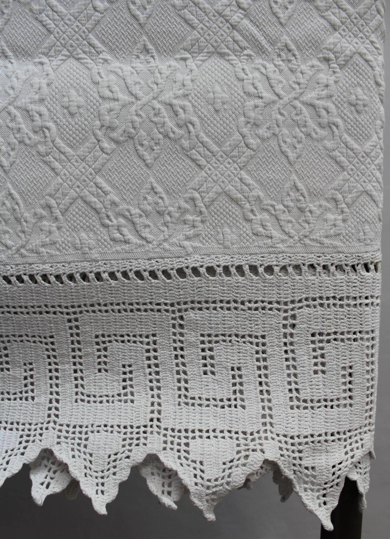 French Pique de Marseilles & Crochet Bedspread
