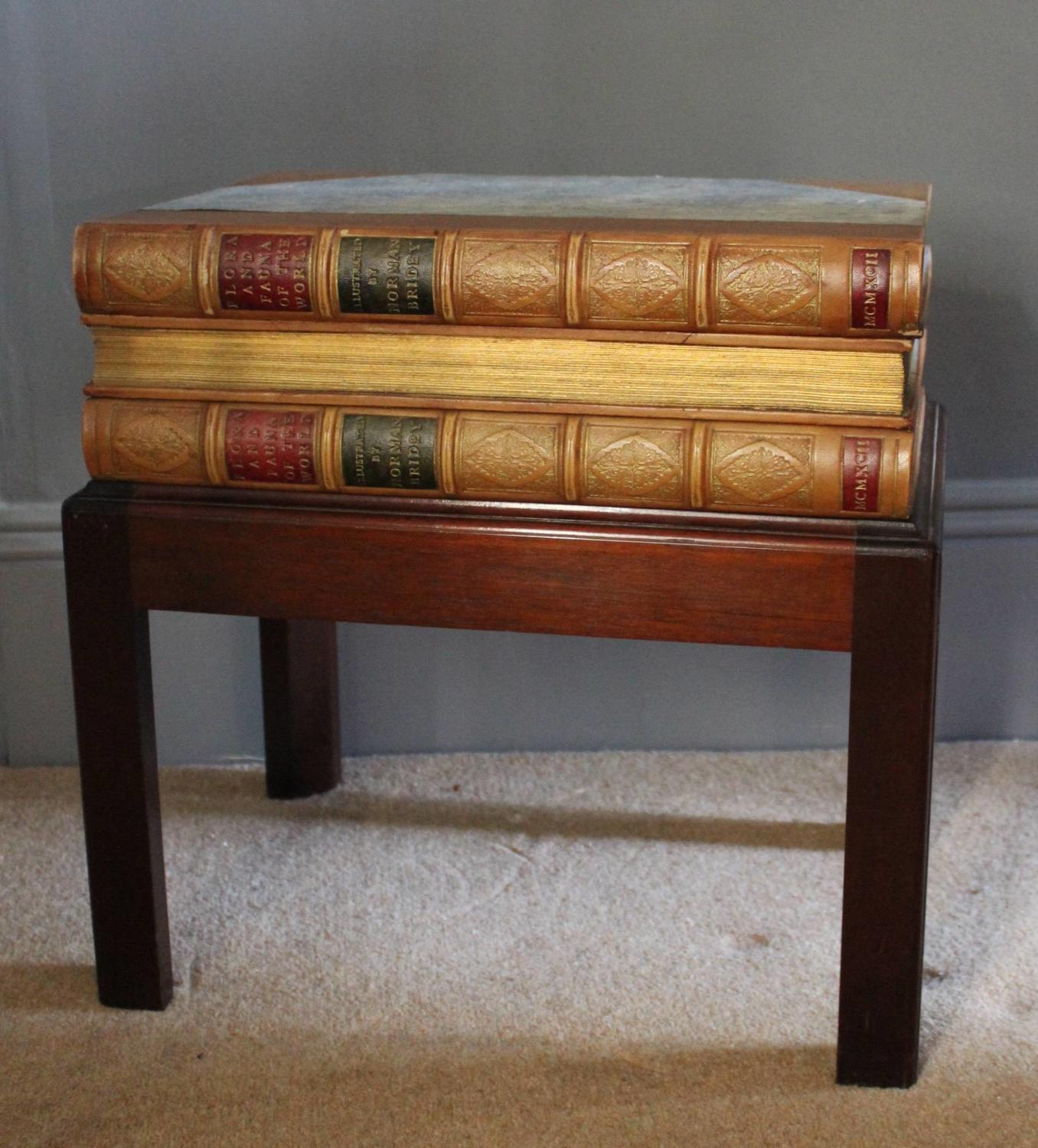 Faux Book Side Table