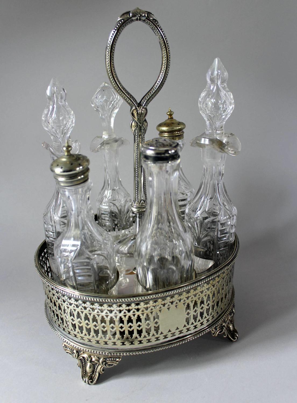 Victorian Silver Plated Cruet Set