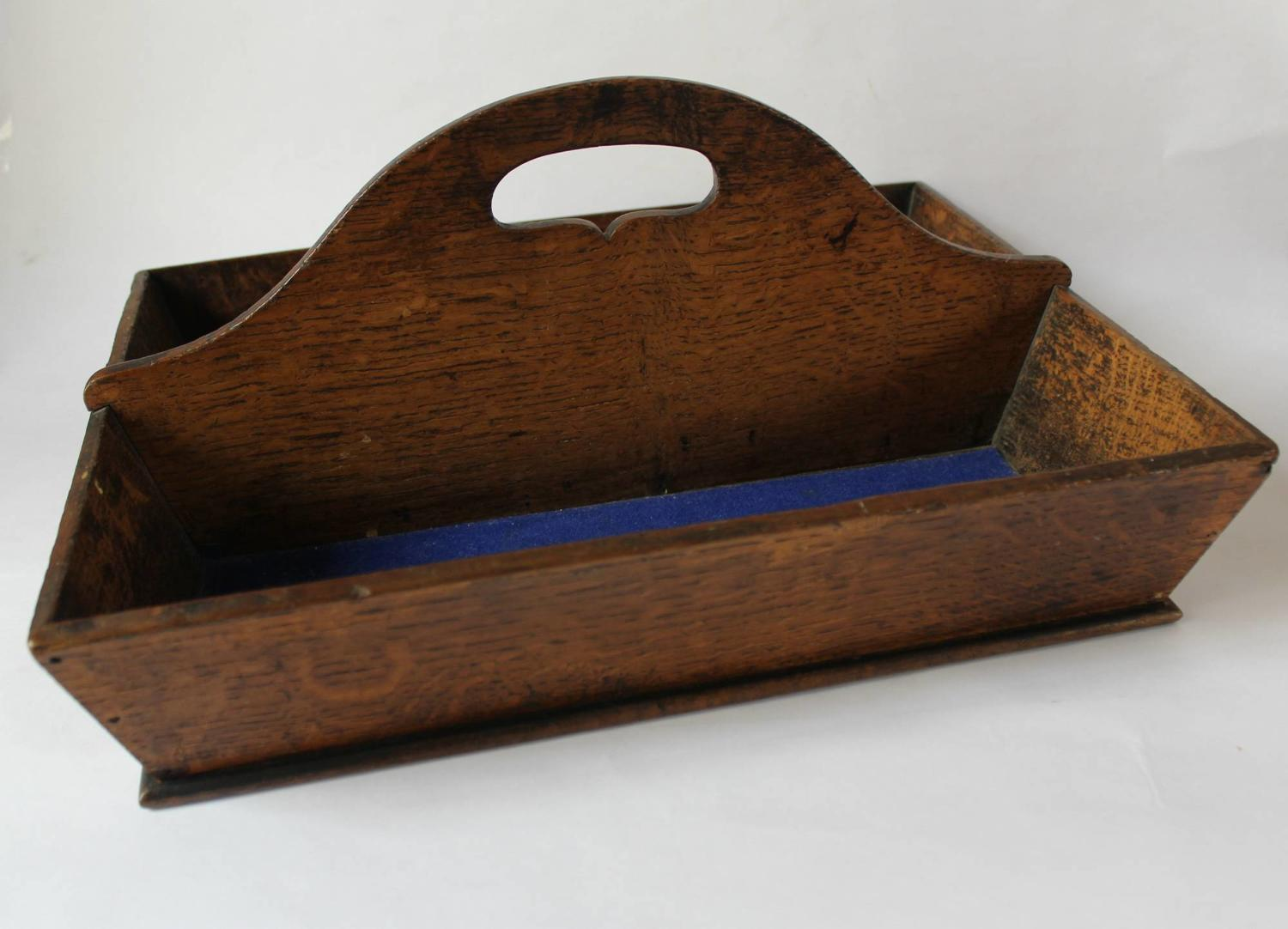 19th Century Oak Cutlery Tray