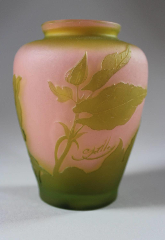 Gallé Cameo Glass Cabinet Vase