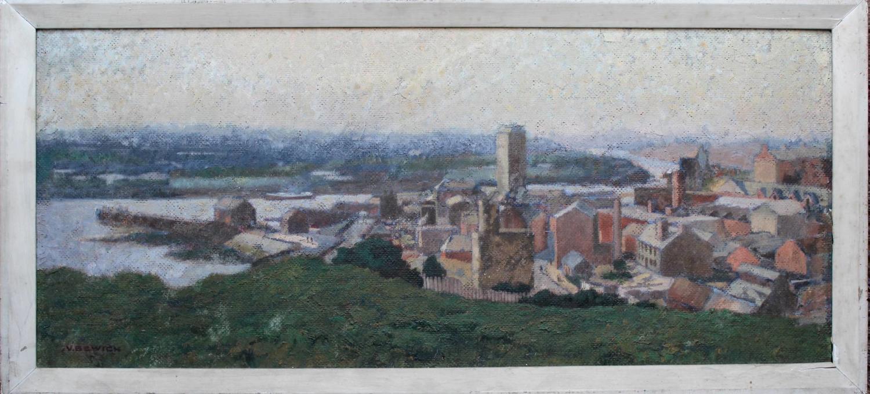 Vivian Bewick, Townscape, Oil on Canvas