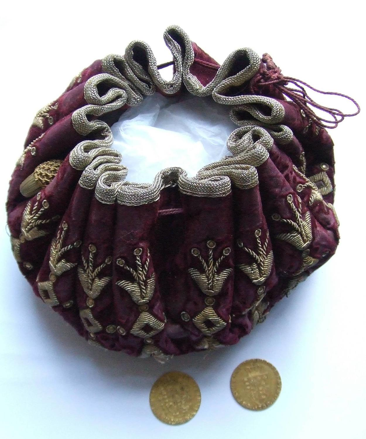 17th Century Gaming Purse