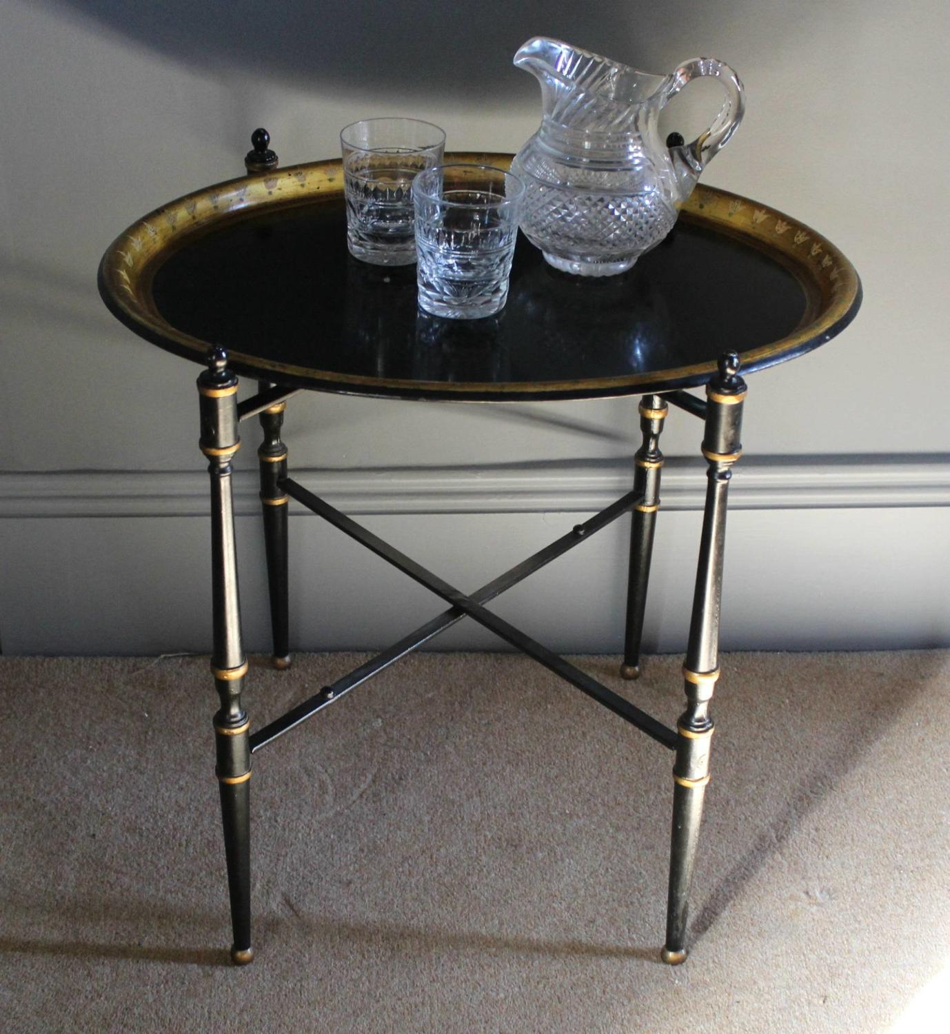 Toleware Tray Top Table