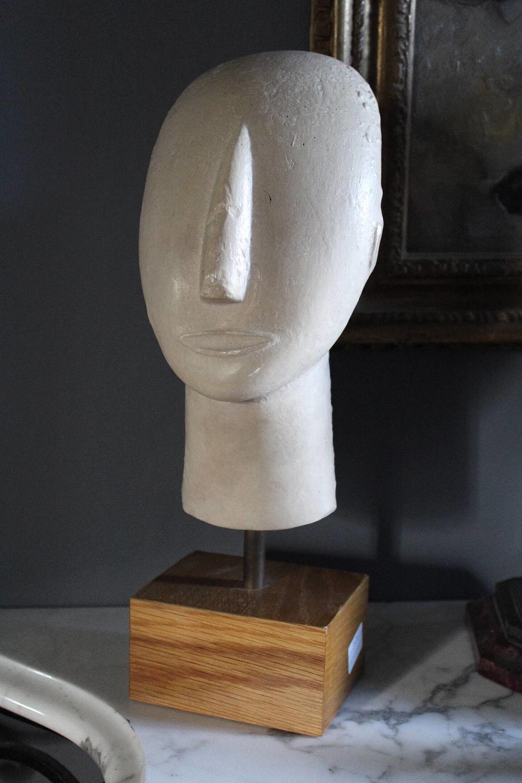 Ancient Greek Cycladic Head Museum Facsimile