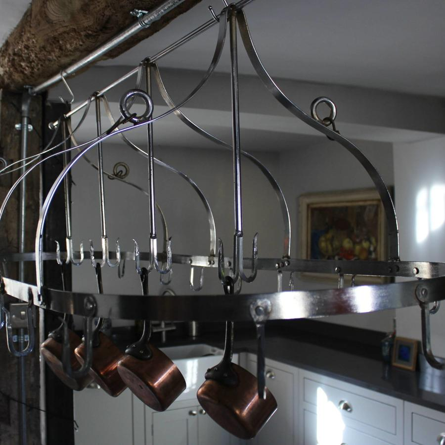 Large Chrome Butchers Rack \ Batterie de Cuisine