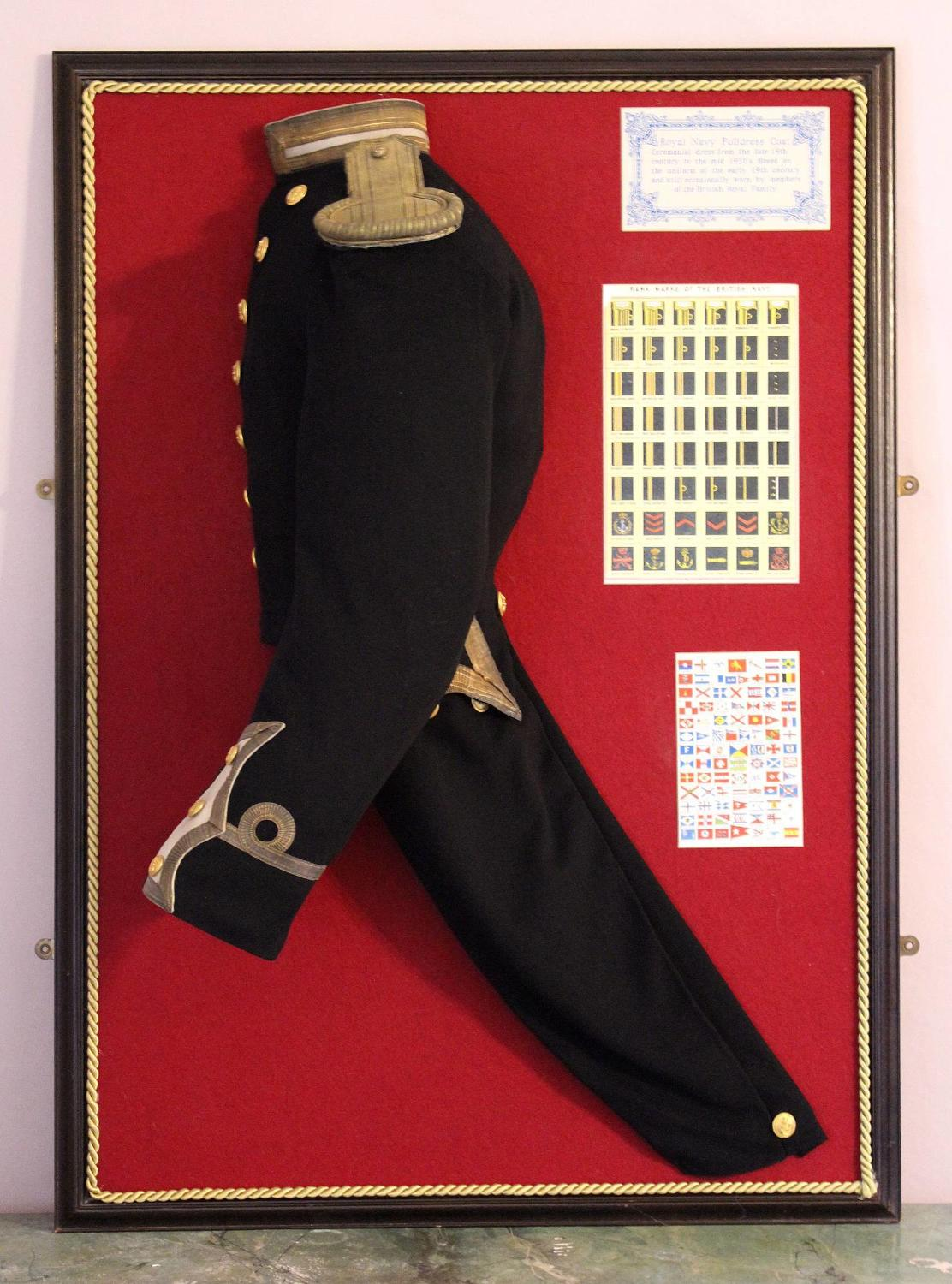 Quirky Framed & Mounted Naval Dress Uniform