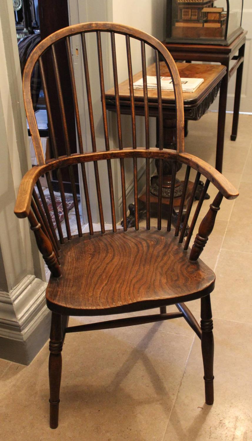 A Pair of Victorian Comb Back Windsor Chairs