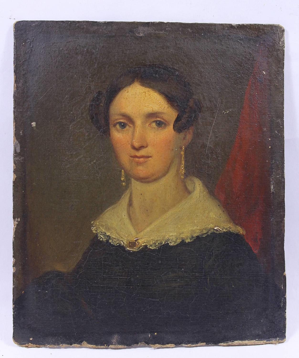 19th Century Oil Portrait of a Lady