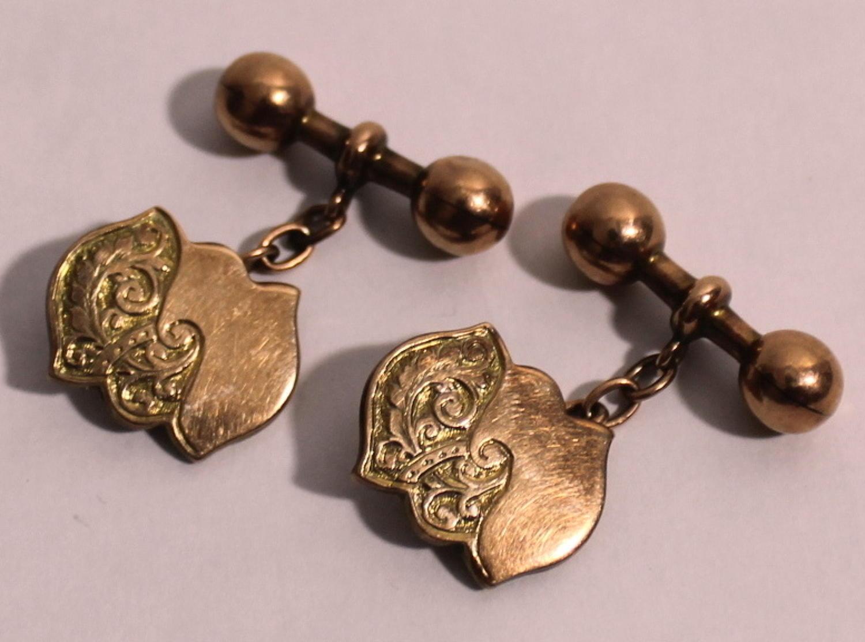 Antique 9ct Rose Gold Cufflinks