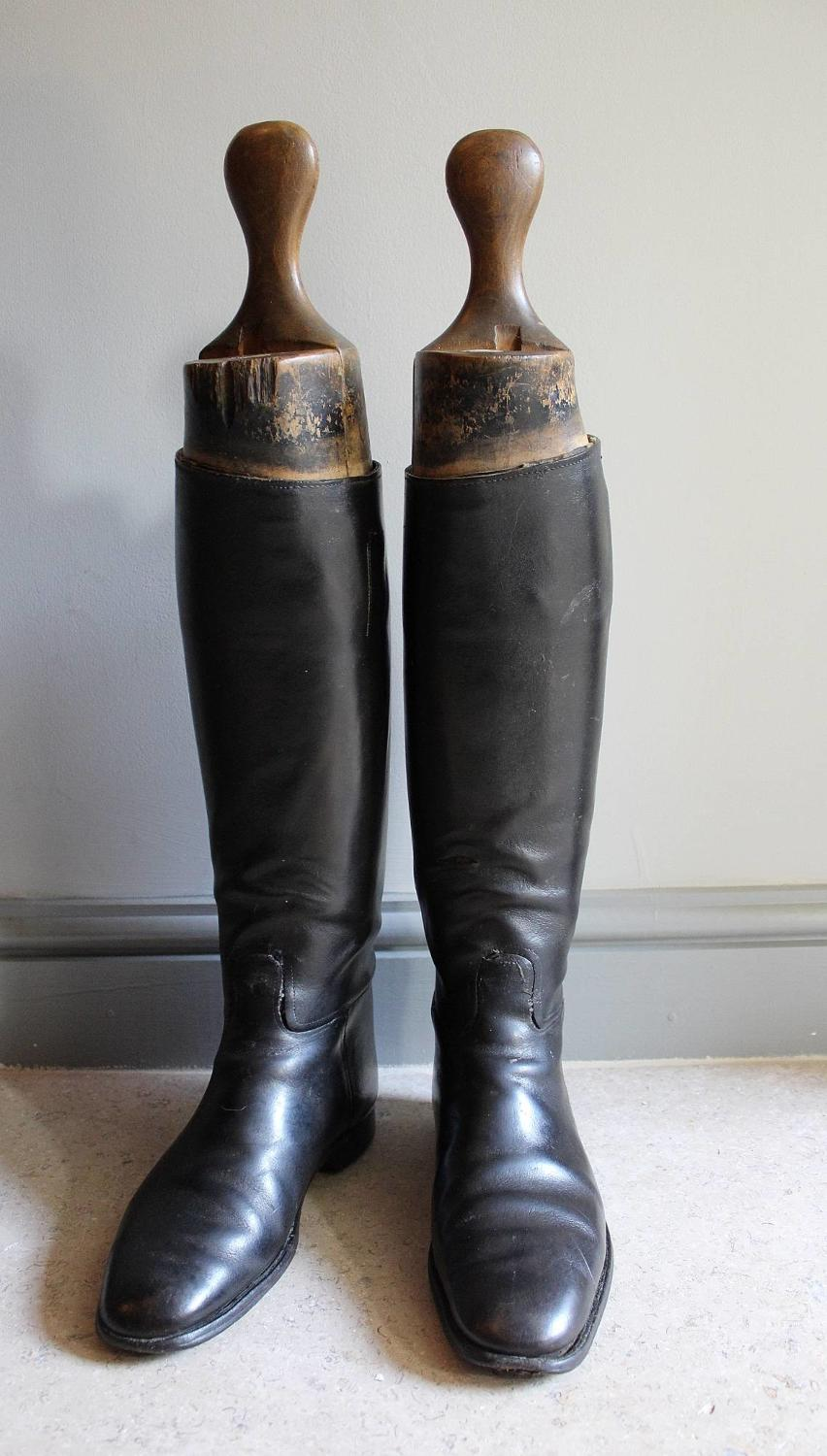 Pair of Antique Leather Riding Boots