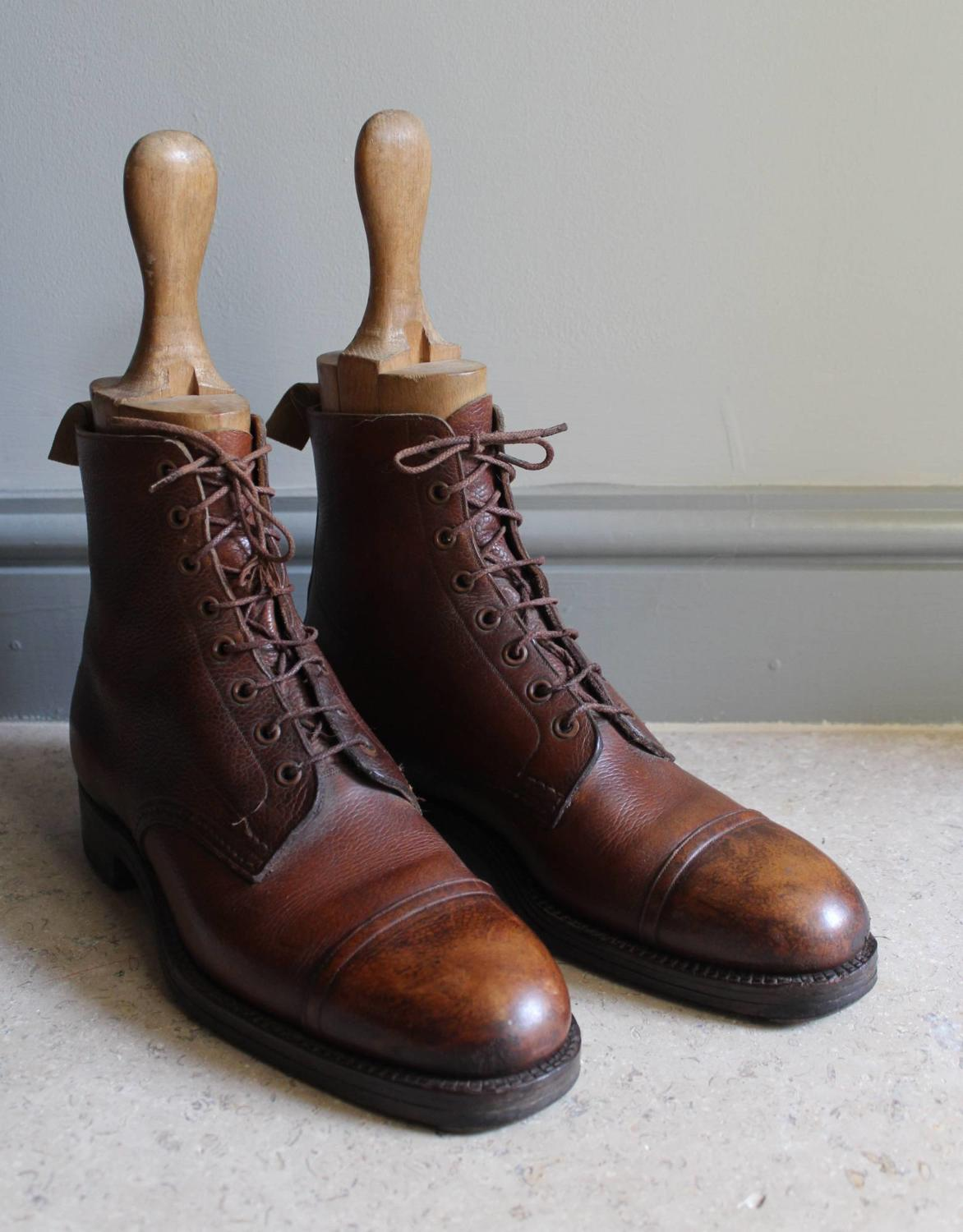Pair of Vintage Leather Army Officer's Field Boots