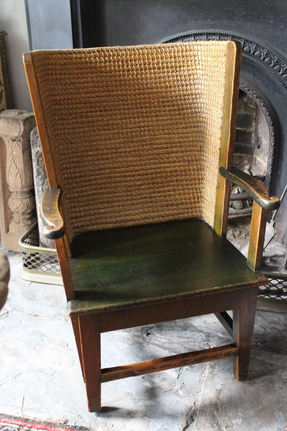 Antique Orkney Chair in Original Paint